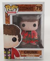 "Jeff Cohen Signed ""The Goonies"" #79 Funko Pop! Vinyl Figure Inscribed ""Chunk"" (JSA COA) at PristineAuction.com"