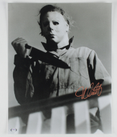 "Nick Castle Signed ""Halloween"" 16x20 Photo Inscribed (PSA COA) at PristineAuction.com"
