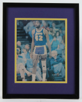James Worthy Signed Lakers 12x15 Custom Framed Photo (PSA COA) at PristineAuction.com