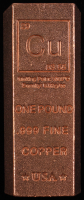 "One Pound .999 Fine Copper ""Element Design"" Bullion Bar at PristineAuction.com"