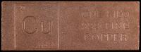 """One Kilo .999 Fine Copper """"Element Design"""" Bullion Bar at PristineAuction.com"""