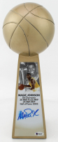 """Magic Johnson Signed Lakers 14"""" Championship Basketball Trophy (Beckett Hologram) at PristineAuction.com"""