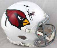 Larry Fitzgerald Signed Cardinals Full-Size Authentic On-Field Speed Helmet (Beckett COA) at PristineAuction.com