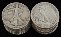 Lot of (20) Walking Liberty Half-Dollars with 1918-1945 at PristineAuction.com