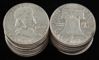 Lot of (20)  1949-1963 Benjamin Franklin Half Dollars at PristineAuction.com