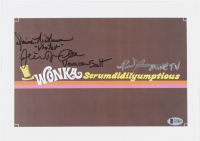 """Julie Dawn Cole, Denise Nickerson & Paris Themmen Cast-Signed """"Willy Wonka & The Chocolate Factory"""" 9x13 Wonka Fudge Print with (3) Character Inscriptions (Beckett LOA) at PristineAuction.com"""
