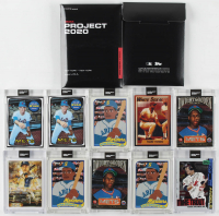 Lot of (10) 2020 Topps Project 2020 Baseball Cards with (2) #87 Nolan Ryan / Joshua Vides, (2) #86 Dwight Gooden / Ben Baller, #85 Mike Trout / Jacob Rochester, #83 Frank Thomas / Matt Lord at PristineAuction.com