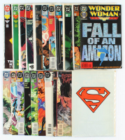 Lot of (20) DC Comic Books With Superman, Wonder Woman, Green Lantern at PristineAuction.com