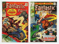 "Lot of (2) ""Fantastic Four"" Marvel Comic Books with 1967 #62 & 1969 #7 at PristineAuction.com"