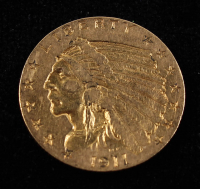 1911 American Gold Eagle $5 Five Dollar Gold Coin at PristineAuction.com