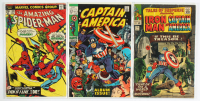 "Lot of (3) Marvel Comic Books with 1969 ""Captain America"" Issue #112, 1975 ""The Amazing Spider-Man"" Issue #149 & 1965 ""Tales Of Suspense"" Issue #70 at PristineAuction.com"