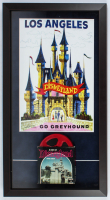 Disneyland 15x27 Custom Framed Print Display with 1960s 8mm Film Reel at PristineAuction.com