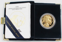 2006-W American Buffalo Indian Head 24kt Gold Proof Coin at PristineAuction.com