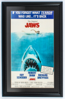 """""""Jaws"""" 15x23 Custom Framed Movie Poster Display at PristineAuction.com"""