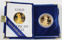 1986 Gold Eagle $50 Fifty Dollar 22kt Gold Coin in Case at PristineAuction.com