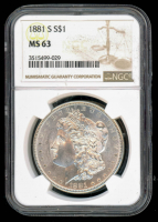 1881-S Morgan Silver Dollar (NGC MS63) at PristineAuction.com