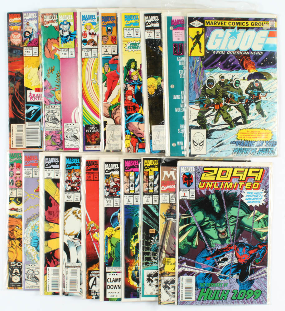 Lot of (20) Marvel Comic Books with The Infinity Crusade, The Infinity War, G.I. Joe at PristineAuction.com