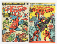 "Lot of (2) ""The Amazing Spider-Man"" Marvel Comic Books with 1974 #136 & 1975 #140 at PristineAuction.com"