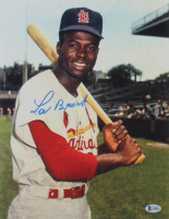 Lou Brock Signed Cardinals 11x14 Photo (Beckett COA) at PristineAuction.com