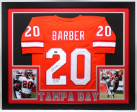 "Ronde Barber Signed 35x43 Custom Framed Jersey Display Inscribed ""SB XXXVII Champs"" (Radtke COA) at PristineAuction.com"
