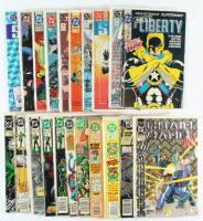 Lot of (20) DC Comic Books with Green Lantern, Justice League America, Flash, Agent Liberty at PristineAuction.com