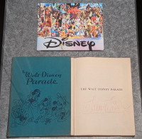 "Walt Disney Signed 25.5x21x0.5 Custom Framed ""The Walt Disney Parade"" Book Shadowbox Display (JSA LOA) at PristineAuction.com"