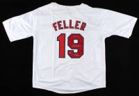"Bob Feller Signed Jersey Inscribed ""HOF 62"" & ""48 Champs"" (CAS COA) at PristineAuction.com"