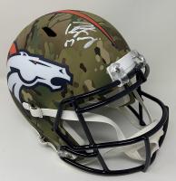 Peyton Manning Signed Broncos Full-Size Camo Speed Helmet (Fanatics Hologram) at PristineAuction.com