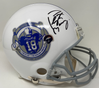 Peyton Manning Signed Colts / Broncos Commemorative Retirement Full-Size Authentic On-Field Helmet (Fanatics Hologram) at PristineAuction.com