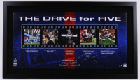 "Tom Brady Signed Patriots ""Drive for Five"" 24x41 Custom Framed LE Photo (Steiner COA) at PristineAuction.com"