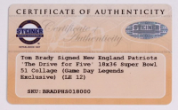 """Tom Brady Signed Patriots """"Drive for Five"""" 24x41 Custom Framed LE Photo (Steiner COA) at PristineAuction.com"""
