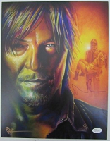 "Norman Reedus Signed ""The Walking Dead"" 11x14 Photo (JSA COA) at PristineAuction.com"
