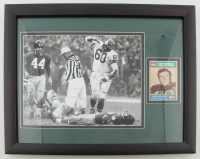 """Chuck Bednarik Signed Eagles 12.5x15.5 Custom Framed Photo Display with 1989 Swell Greats #71 Inscribed """"HOF 67"""" (JSA COA) at PristineAuction.com"""