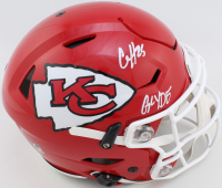 """Clyde Edwards-Helaire Signed Chiefs Full-Size Authentic On-Field SpeedFlex Helmet Inscribed """"Glyde"""" (JSA COA) at PristineAuction.com"""