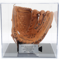 """Nolan Ryan Signed Rawlings Baseball Glove Inscribed """"Don't Mess With Texas!"""" with Display Case (PSA COA) at PristineAuction.com"""
