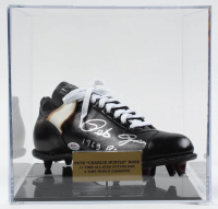 """Pete Rose Signed Vintage Baseball Cleat Inscribed """"1963 R.O.Y."""" with Display Case (PSA COA) at PristineAuction.com"""
