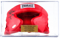 Mike Tyson Signed Everlast Head Gear with Display Case (JSA COA) at PristineAuction.com