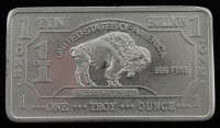1 Troy Ounce .999 Fine Tin Bullion Bar at PristineAuction.com