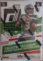 2020 Panini Donruss Football 11-Pack Holiday Blaster Box at PristineAuction.com