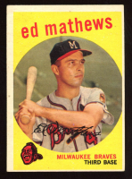 Eddie Mathews 1959 Topps #450 at PristineAuction.com
