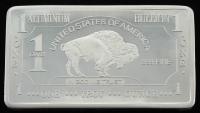 1 Troy Ounce .999 Fine Alluminum Bullion Bar at PristineAuction.com