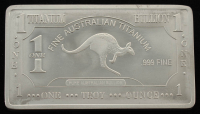 1 Troy Ounce .999 Fine Titanium Bullion Bar at PristineAuction.com