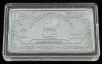 1 Troy Ounce .999 Fine Zinc Bullion Bar at PristineAuction.com