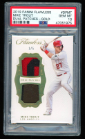 Mike Trout 2019 Panini Flawless Dual Patches Gold #5 (PSA 10) at PristineAuction.com