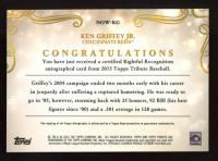 Ken Griffey Jr. 2015 Topps Tribute Rightful Recognition Autographs Purple #NOWKG at PristineAuction.com