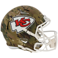 Tyreek Hill Signed Chiefs Full-Size Camo Speed Helmet (Fanatics Hologram) at PristineAuction.com