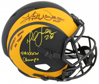 Kurt Warner & Marshall Faulk Signed Rams Full-Size Eclipse Alternate Speed Helmet with Multiple Inscriptions (Beckett COA) at PristineAuction.com