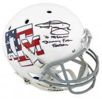 "Johnny Manziel Signed Texas A&M Aggies Full-Size Helmet Inscribed ""12 Heismann"" & ""Johnny F****** Football"" (JSA COA) at PristineAuction.com"