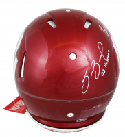 Oklahoma Sooners Heisman Winners Full-Size Authentic On-Field Speed Helmet Signed by (6) with Kyler Murray, Billy Sims, Baker Mayfield, Sam Bradford, Jason White, & Steve Owens with Heisman Inscriptions (Beckett COA) at PristineAuction.com