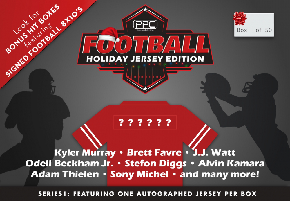 Press Pass Collectibles 2020 Holiday Football Jersey Mystery Box – Series 1 (Limited to 50) at PristineAuction.com